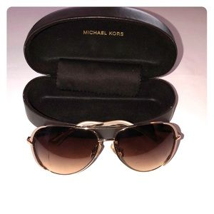 Michael Kors rose gold aviators